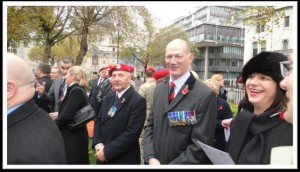 The day after, Jackie and I pay our respects at the RMP Field of Remembrance at Westminster Abbey.