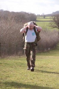 Paddy Doyle on his 13 Mile walk