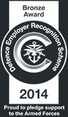 Defence Employer Recognition Scheme - Bronze Award 2014